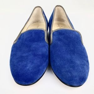 Womans Cole Haan Suede Loafer Blue Size 8 Medium